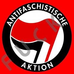 """Antifa Symbol - Die sogenannte Antifaschistische Aktion (ANTIFA), bekannt auch als gewalttätiger SCHWARZER BLOCK bei Demonstrationen, besteht aus antideutschen Linksextremisten. Parolen sind """"Deutschland Verrecke"""", """"Jeder Deutsche ist einer zuviel"""", """"Deutschland knicken"""", """"Nazis ich fick eure Mütter"""" etc. Gerne werden auch Andersdenkende nicht nur massiv verunglimpft, sondern auch persönlich inklusive deren Familien mit Kindern angegriffen. Die ANTIFA hängt am Fördertopf gegen Rechts von Bundesfamilienministerin Schwesig SPD mit einem Volumen von 100 Mio. EUR pro Jahr. Die ANTIFA wird außerdem von Politikern zumindest der Grünen und der Linken finanziell unterstützt. Laut Schwesig SPD ist der Linksextremismus inklusive der ANTIFA nur ein aufgebauschtes Problem. Dem Vernehmen nach soll der Sohn von Bundesjustizminister Heiko Maas SPD ebenfalls bei der ANTIFA mitwirken. Die ANTIFA verbreitet Meinungsterror mit Hilfe von Straftaten und ist eine Gefahr für die Demokratie in diesem Land. Bundesjustizminister Maas SPD kümmert sich derweil lieber um Hasskommentare im Internet, tatkräftig unterstützt von der ehemaligen Informellen Stasi-Mitarbeiterin IM Anetta Kahane. Man kann sich des Eindrucks nicht erwehren, dass zwar die ANTIFA von den etablierten Parteien als kriminell eingestuft werden. Aktionen gegen die Alternative für Deutschland AfD werden jedoch geflissentlich nicht zur Kenntnis genommen und scheinen so den Altparteien nicht ganz ungelegen zu kommen. Fuck ANTIFA."""